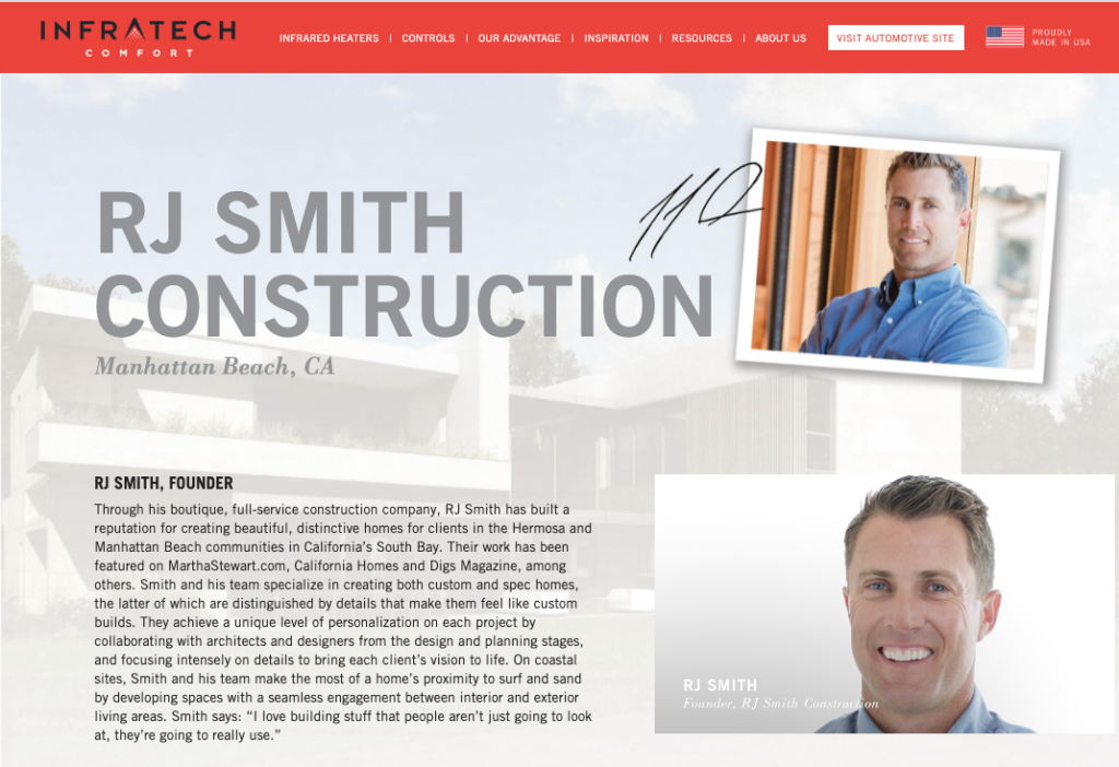 RJ Smith featured ion Infratech website